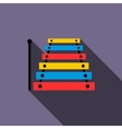 Xylophone icon in flat style vector image