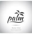 Water with palm logo for holiday business vector image