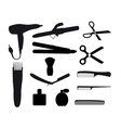 Barber tools vector image