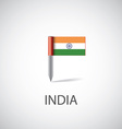 india flag pin vector image