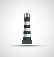 Logo old lighthouse vector image
