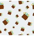 Seamless financial pattern with money vector image