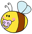 Baby Bee Cartoon Character vector image