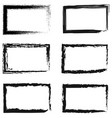 set of abstract frames for photos or pictures vector image