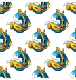 Nautical themed background seamless pattern vector image vector image