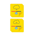 cloud download and upload 6 vector image vector image