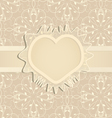 template for wedding invitation vector image