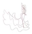 Gesture drawing flamenco dancer expressive pose vector image