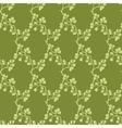 Moss Green Kimono Branches Silhouette vector image