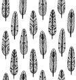 Ethnic Geometrical Feather seamless pattern vector image