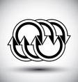 Arrows template conceptual icon special abstract vector image