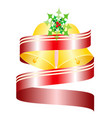 decorative christmas bells with red ribbon vector image