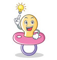 have an idea baby pacifier character cartoon vector image