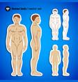 human body set vector image