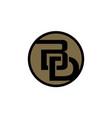 modern logo solution letter b d vector image
