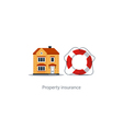 Real estate coverage icon protection system vector image