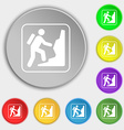 rock climbing icon sign Symbol on eight flat vector image