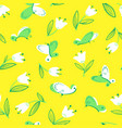seamless pattern with butterflies background with vector image