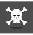 Sleeping skull emotion Crossbones Closed eye vector image