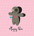 voodoo doll happy love valentines day vector image