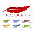 Logo design with bird feather Abstract polygonal vector image