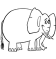 cute elephant cartoon for coloring book vector image vector image