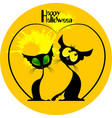 two cats halloween vector image