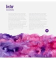 Watercolor business template with pink blots vector image
