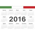 Italian circle calendar 2016 vector image