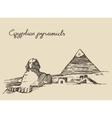 Pyramids Great Sphinx Giza in Cairo Egypt sketch vector image