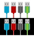 usb plugs vector image vector image