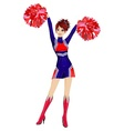 cheerleader vector image