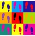 Imprint soles shoes sign vector image