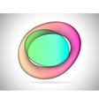 Abstract elliptic colorful glass vector image
