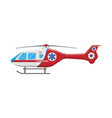 ambulance helicopter medical evacuation helicopter vector image