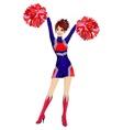 Cheerleader vector image