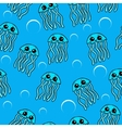 Cute Jellyfish seamless pattern vector image