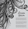 Hair outlined background vector image
