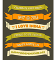 India Independence Day Celebration Banners Set vector image