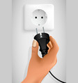 plug in your hand vector image