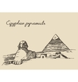 Pyramids Great Sphinx Giza in Cairo Egypt sketch vector image