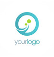 round loop technology logo vector image