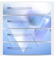 Set of modern banners Winter design vector image
