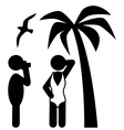 Summer Beach Photo Session Pictograms Flat People vector image