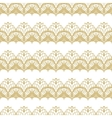 White and gold lace seamless stripes pattern vector image