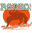 Rodeo tonight only Vector Image