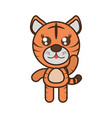 cute tiger toy kawaii image vector image