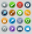 web design round buttons set 2 vector image vector image