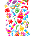 festive background with carnival and party vector image vector image