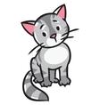 Sad sitting cat vector image
